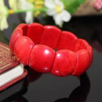 款红松石手链  红爆花松手排 绿松石 靓丽中国红 本命年饰品