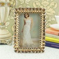礼品相框 照片装饰摆台 手工镶嵌奢华水晶金属相框相架