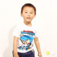 品牌童装批发 夏季新品韩版男童打底衫 热销爆款卡丁车短Tz0.4