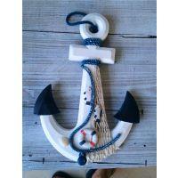 地中海装饰船锚工艺品 家居装饰摆件挂件做旧风格带挂钩