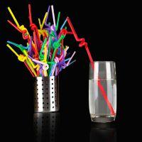 1809超值艺术吸管一次性批发彩色果汁吸管食品级塑料装 150g