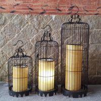 现代铁艺鸟笼灯创意吊灯酒店过道灯笼茶楼客厅装饰灯中式餐厅灯具