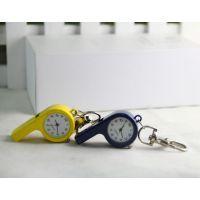 创意口哨项链 石英表钥匙链 仿古手表彩色挂件项链表批发