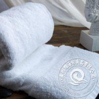 厂家热销批发 高档酒店宾馆纯棉白色平织毛巾 150g 16S螺旋缎档