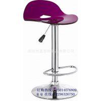 有机玻璃座板吧台凳 亚克力透明塑料吧椅