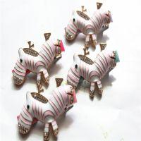 T172新款韩版水钻小马发夹促销 可爱斑马发夹 刘海夹边 夹鸭嘴夹