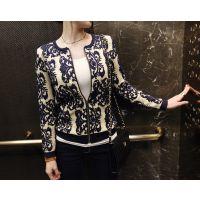 2014秋装新款韩版毛衣外套中长款宽松女装打底衫针织衫开衫