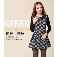 秋装新款韩版修身显瘦长袖针织打底毛呢秋冬连衣裙