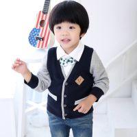 2014年alooughe品牌新款冬季男孩空气棉假两件套 童装冬款批发