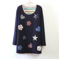 SC2482  星星加绒加厚打底衫  日系森女系2014秋季新款