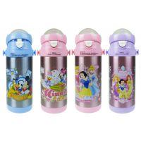 正品迪士尼保温杯 不锈钢儿童保温杯 350ml真空儿童吸管杯HM2206