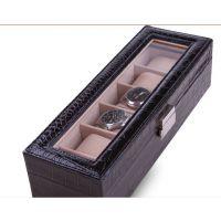 6展位手表盒 精装高档手表收纳盒 豪华天窗精美手表盒 收纳盒