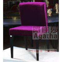绒布宴会椅 时尚精品休闲餐椅 茶餐厅不锈钢椅子