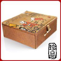 厂家直销 批发锦盒 包装盒 复古佛珠手链装饰盒 多种花纹精品礼盒