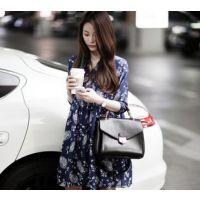 8915# 2014春装新款印花连衣裙 韩版透气大摆宽松大码连衣裙子