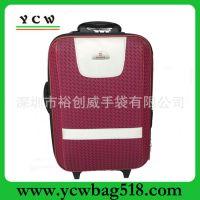 深圳龙岗手袋厂家供应 提花料 红色拉杆箱   行李箱包