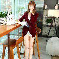 2014秋季新款宽松大码中长款长袖针织开衫 女韩版薄款外套