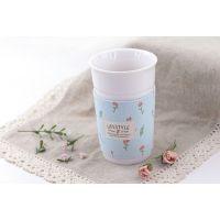 热销 创意清新花园 布艺隔热陶瓷杯420ml陶瓷马克杯批发