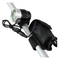 GREE T6自行车前灯充电单车灯头灯狩猎灯钓鱼灯夜骑必备配电池组