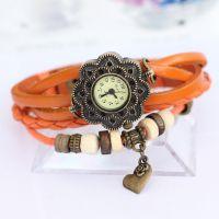 韩版时尚 皮革编织手表 女士手表 复古手表 淘宝爆款石英表
