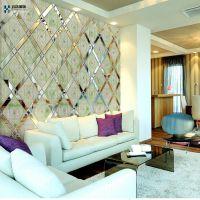 背景墙 拼镜  玻璃工艺品  厂家直销各类异形、菱形拼镜 防玉石