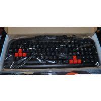 联想 K19 游戏型防水键盘 简约宽面 凹槽键位 网吧游戏键盘 USB