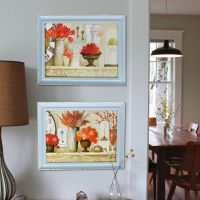 SP41326A 春天印象餐厅墙面装饰画壁画 地中海客厅有框挂画