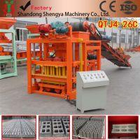 山东胜亚供应砌块成型制砖机 大型空心制砖机 自动化免烧制砖机设备QTJ4-26C