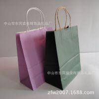 厂家定做品牌服装礼品纸袋 手提牛皮纸袋 防油环保纸袋