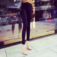 小银子2014秋冬新款韩版气质修身显瘦加绒小脚铅笔裤女长裤