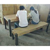 美式乡村铁艺餐桌 防锈复古做旧餐椅 餐桌椅组合 工作 会议可定做