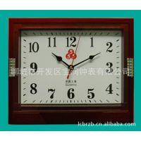 厂家常年供应5元方形挂钟 定做广告宣传挂钟  定做广告语挂钟