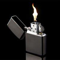 精品煤油打火机创意/防风创意黑色磨砂光板特价