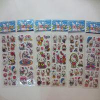 厂家热销KT猫卡通贴纸 迪士尼系列贴纸 泡泡贴纸 可来样订做