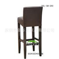 高脚软坐垫餐椅 时尚古典餐椅 酒吧酒店餐厅多用靠背椅子