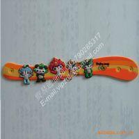 生产卡通动物手腕带,pvc软胶滴胶手腕带,硅橡胶公仔手腕带