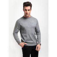 正品秋冬新款男装中年男士羊毛长袖 圆领羊绒针织打底衫男加厚