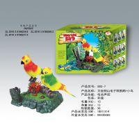 工艺玩具鹦鹉 假山电子电动批发供应新奇特声控鹦鹉 吊座玩具鸟