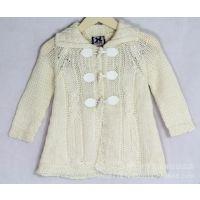 供应2014低价新款童装批发 爆款品牌童装女款 长款女式开衫羊毛衫