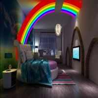 客厅墙纸效果图|主题酒店无缝墙布定制|背景墙壁纸图片