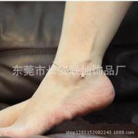 饰品批发气质星星幸运五角星脚链镀18K玫瑰金钛钢脚链韩版时尚