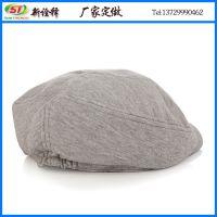 新年新款冬帽子 男女士时尚百搭贝雷帽 纯色纯棉保暖鸭舌前进帽