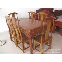 草花梨餐桌七件套 餐厅家具 价格优惠