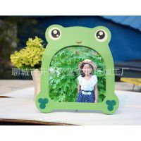 8寸小青蛙相框摆台/卡通儿童影楼用品影楼道具/青蛙王子公主相框