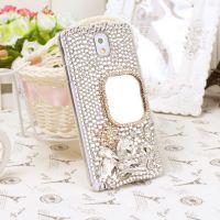 新款  奢华镶钻iphone5S镜子手机壳 三星NOte3水钻手机保护套