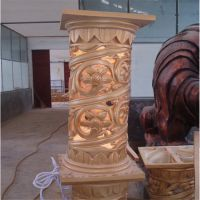 玻璃钢酒店柱子 大型玻璃钢罗马柱子造型 欧式柱子 大型建筑柱子