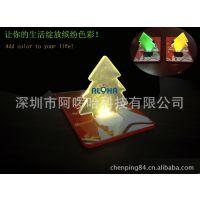 【星型卡片灯】供应电子礼品卡片灯 LED圣诞树小夜灯 LED书灯