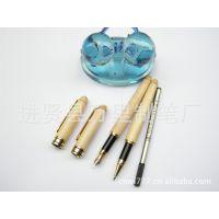 万里笔业优质枫木宝珠笔 白木广告笔 签字笔现货木制笔 可选钢笔