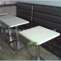 【厂家定做】 广东深圳餐厅桌子 大理石西餐厅餐桌 送货安装