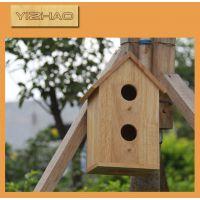 厂家推荐木制鸟屋 木头鸟窝 环保实木小鸟屋 木质小鸟房子工艺品